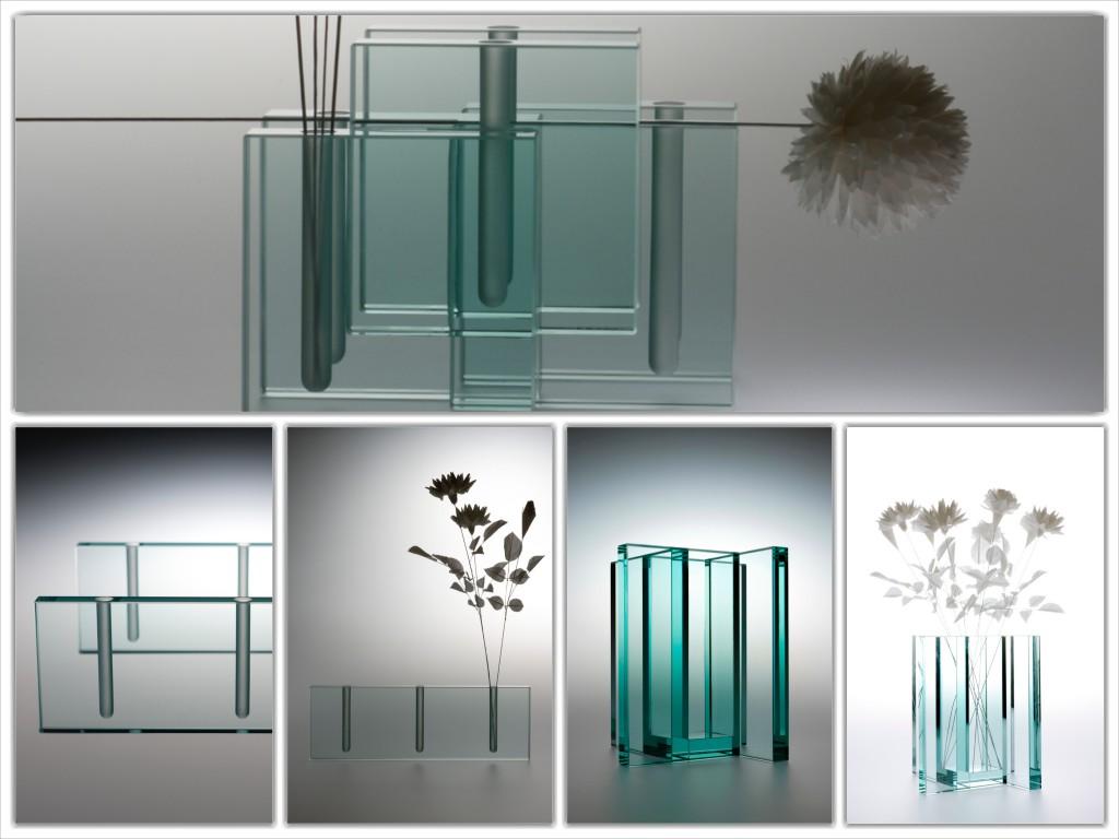 板ガラス花瓶